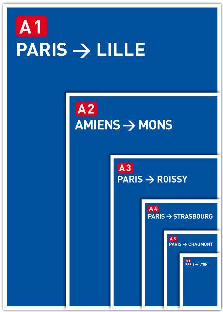 Paper size vs french roads format papier autoroutes A4