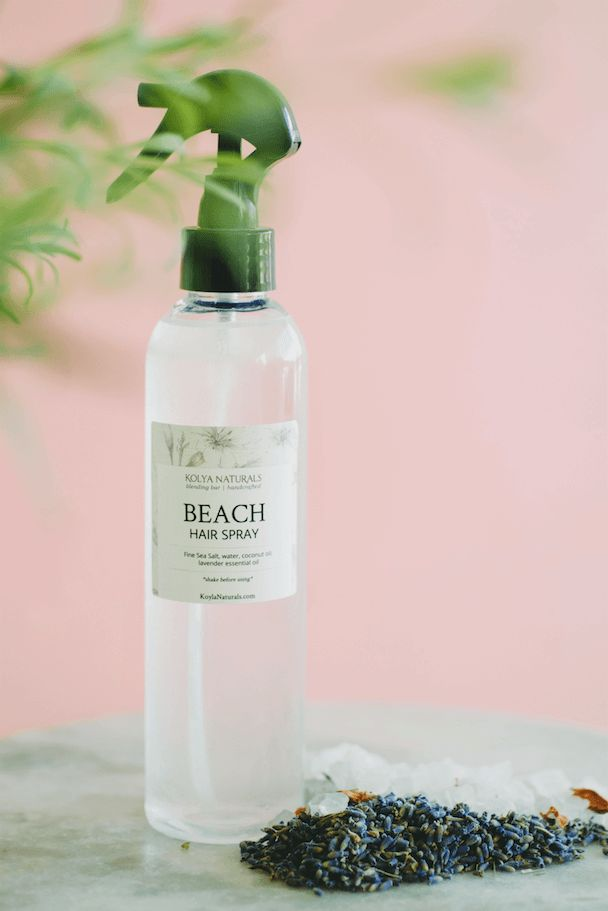 Make your own easy DIY Beach Hair Spray with 4 simple ingredients!