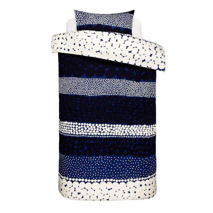 Jurmo Sengetøy 2-deler, Blå/Hvit/Mørkeblå, Marimekko