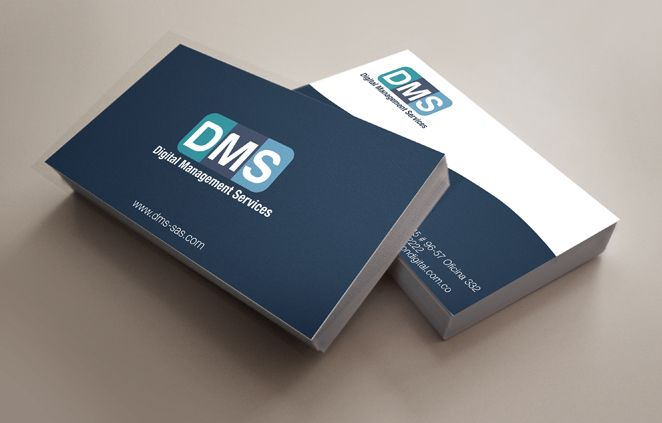 Diseño Logo y Tarjetas de Presentación -  DMS (Digital Management Services)
