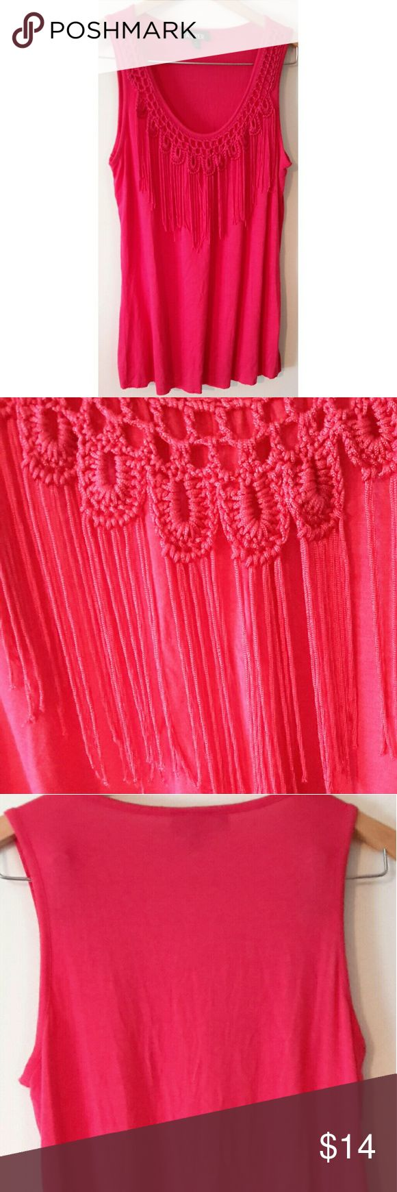 Gorgeous Pink Fringe Top Gorgeous fringe top! Size is medium. A. Byer Tops