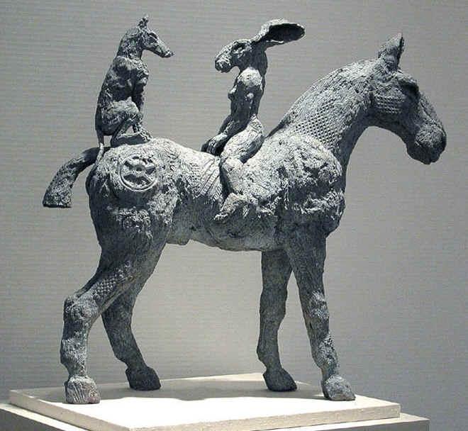 Conversation on a Horse - Sophie Ryder