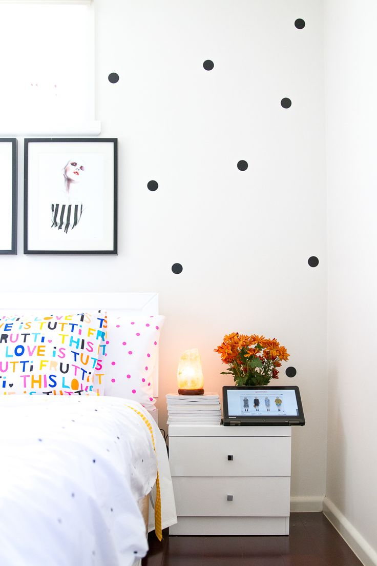 Salt lamp and polka dot feature wall ❤️ see more on www.kisforkani.com