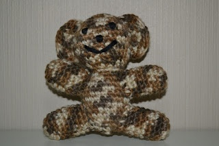 Crochet camouflage brown bear / Heklet kamuflasje bjørn i brunt