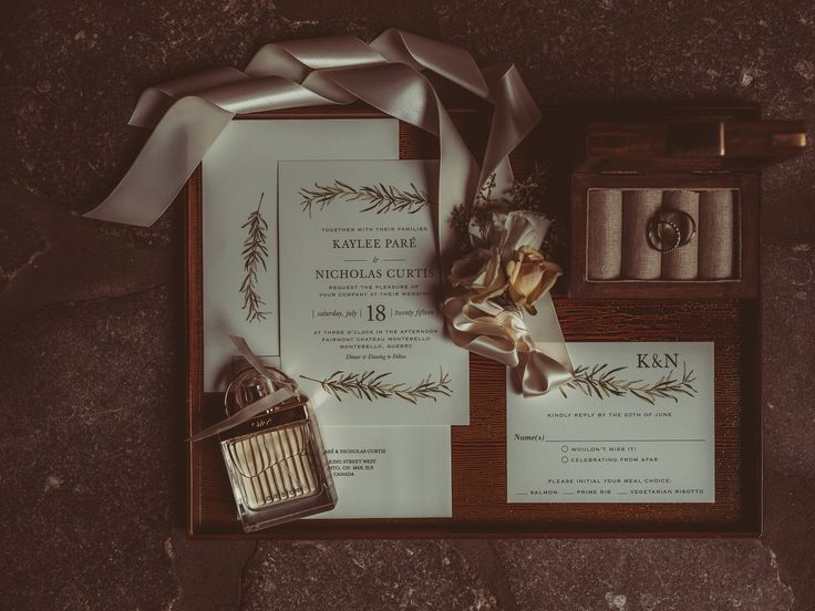 elegant invitation suite; rosemary invitation design; PHOTOGRAPHY Joel + Justyna Bedford; PLANNER The Design Co. Ottawa;