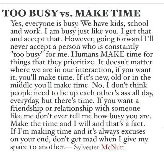 Sylvester McNutt | Too Busy vs Make Time