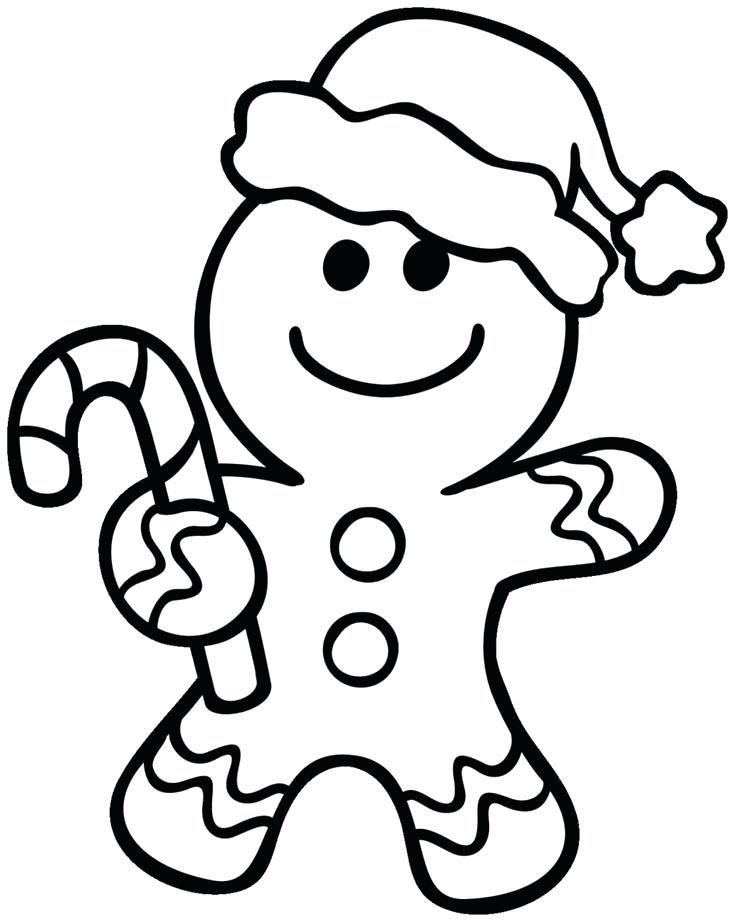 Gingerbread Man Coloring Page With Blank Gingerbread Man Coloring
