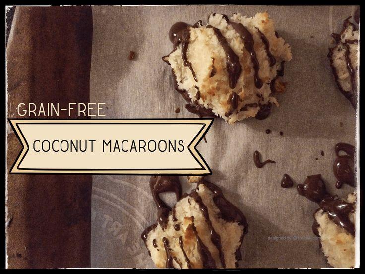 Grain free coconut macaroons