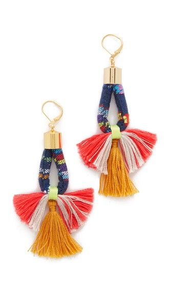 Shashi Small Navy Marlee Earrings | SHOPBOP