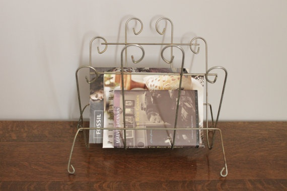 Metal Magazine Rack by myprettypickins on Etsy, $20.00: Magazines Racks, Magazine Racks, Metals Magazines