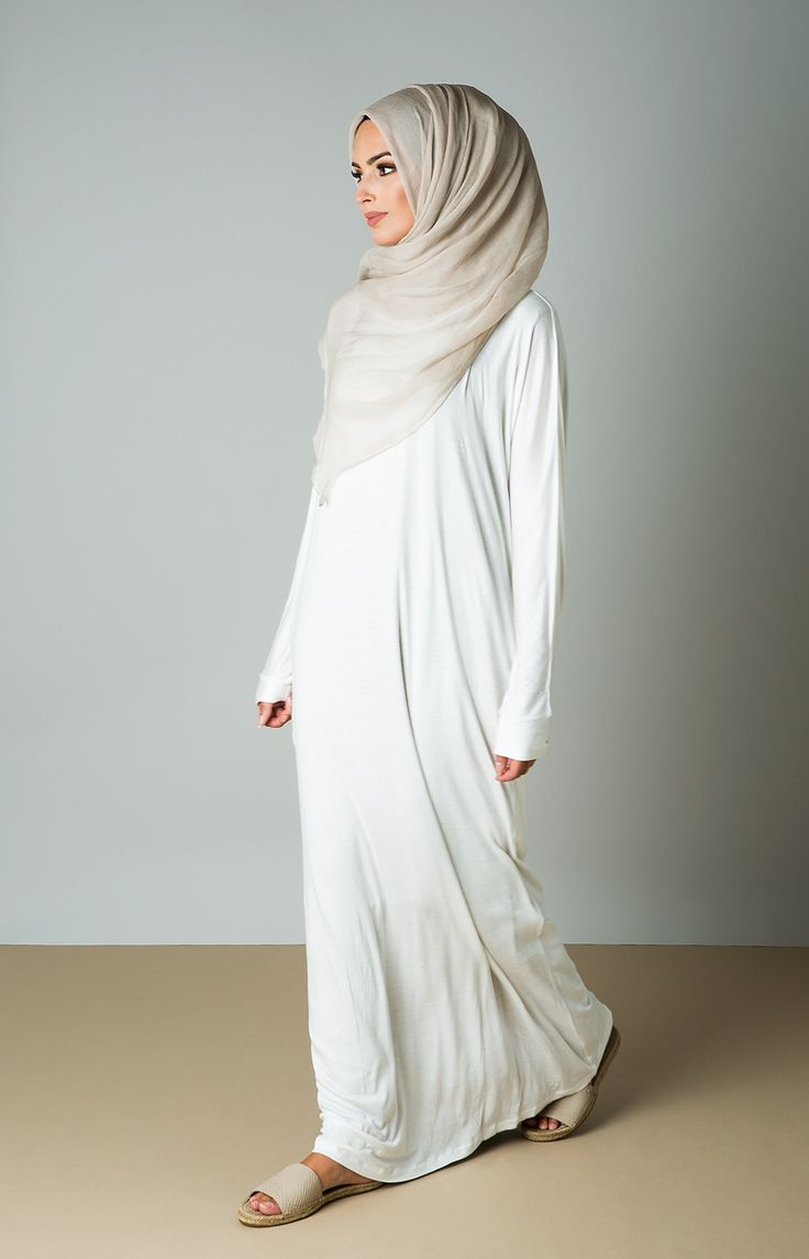 Aab UK Batwing Maxi : Batwing Maxi Dress White Aab Hajj Umrah