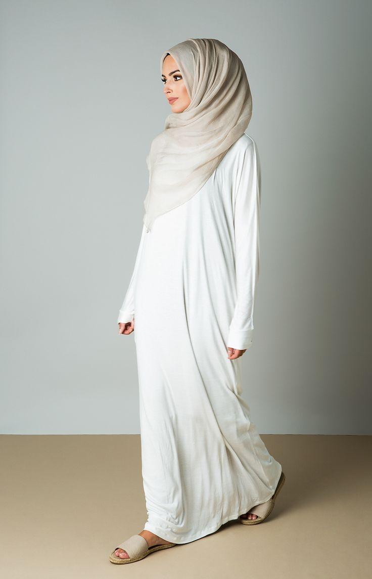 Aab UK Batwing Maxi : Batwing Maxi Dress White Aab Hajj Umrah