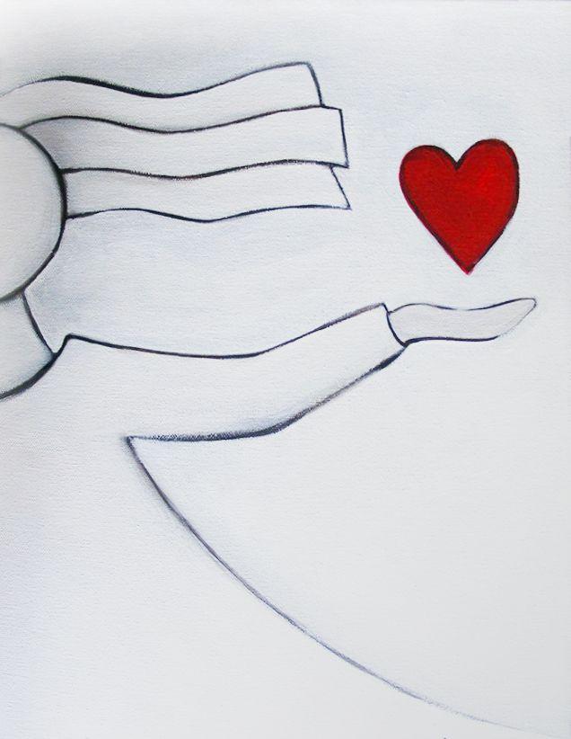 one of my latest love heart paintings https://www.facebook.com/mandyevansartist