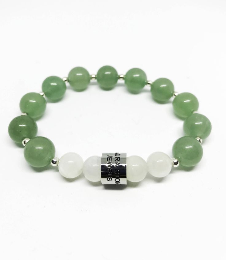 The Inner Peace and Focus Aventurine and Moonstone Bracelet