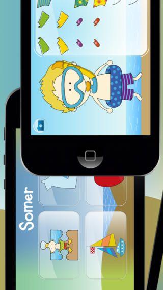 Seisoene deur Cleverkiddo: Opvoedkundige iPhone / iPad app in afrikaans vir voorskoolse kinders.