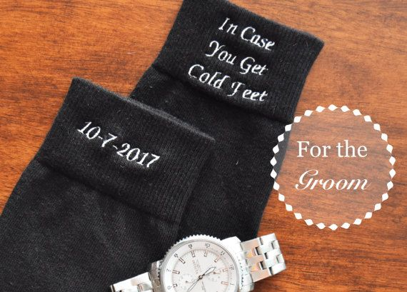 Groom Embroidered Wedding Dress Socks In by RoyalMonogramming