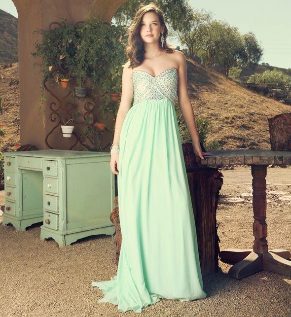 Bella- Mint Prom Dress