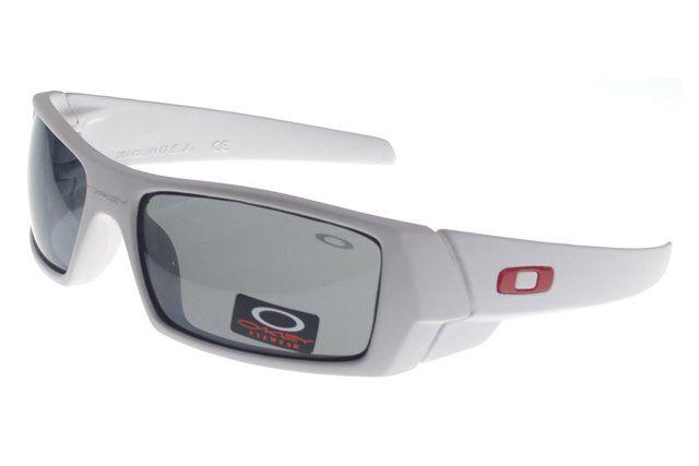 Cheapest Oakley Gascan Sunglasses White Frame Gray Lens#Oakley Sunglasses