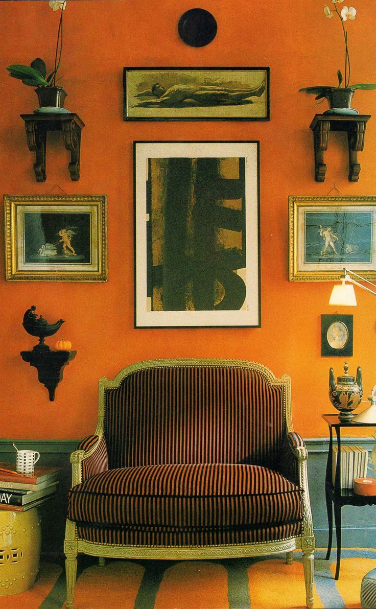 25 best ideas about orange walls on pinterest orange - Orange color paint for living room ...