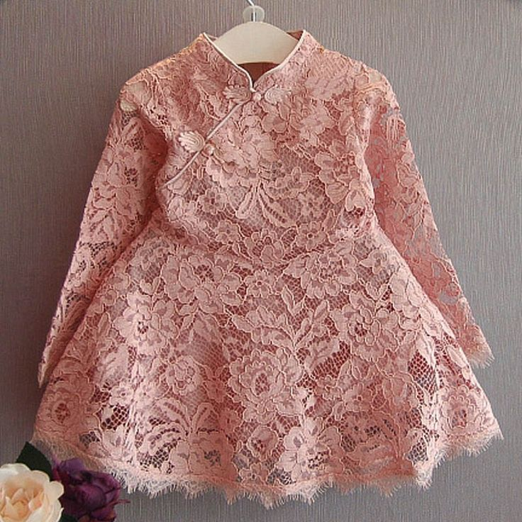 12.97$  Buy now - http://aliz1c.shopchina.info/1/go.php?t=32725976118 - Fashion Toddler Girls Christmas Dress Long Sleeve Red Pink Girls Lace Dress Hollow Retro Girl Party Dresses Retro Kids Clothes  #shopstyle