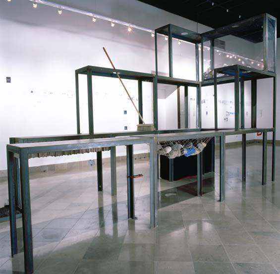 krzysztof m. bednarski, pałace boga, próba rekonstrukcji (wg. leona chwistka), 1992, instalacja
