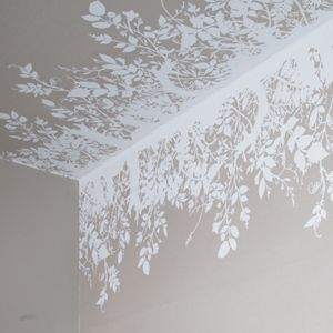 """Branch Out"" hand-printed wallpaper border.  Noted for surreal and provocative textiles and wallpapers, the design studio, Timorous Beasties, was founded in Glasgow in 1990 by Alistair McAuley and Paul Simmons, who met studying textile design at Glasgow School of Art."