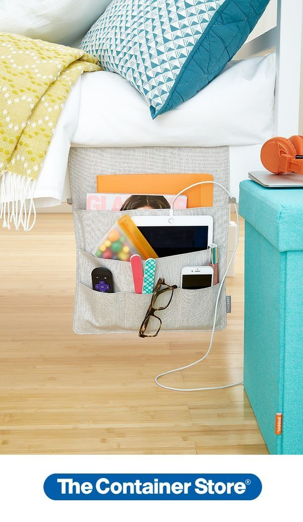 Keep your night table clear and everything within reach with our Stackers Bedside Caddies. Perfect for dorm rooms!