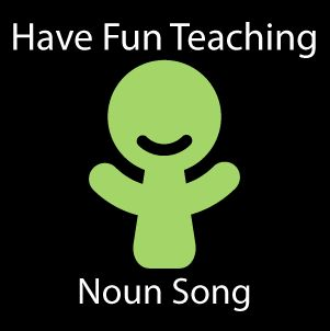 Description: Grammar song that teaches noun as a word that names a person, place or thing. This is a Noun Song for learning nouns.