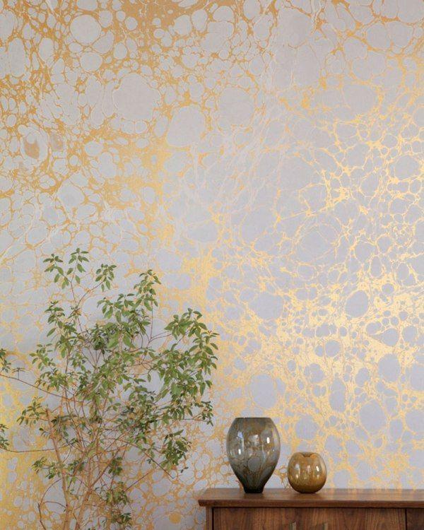 metallische farben designer tapeten calico wallpaper