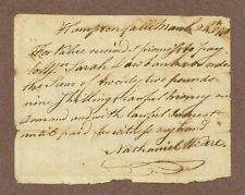 American Colonial Era Manuscript Document, NH, 1770 Signed Nathaniel Weare, COA