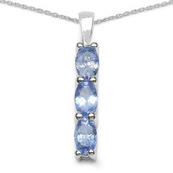 @Overstock.com - Malaika Sterling Silver Blue Tanzanite 3-stone Necklace - This 3-stone pendant features a line of oval-cut blue tanzanites. This jewelry is crafted of sterling silver in a polished finish.  http://www.overstock.com/Jewelry-Watches/Malaika-Sterling-Silver-Blue-Tanzanite-3-stone-Necklace/5300215/product.html?CID=214117 $31.49