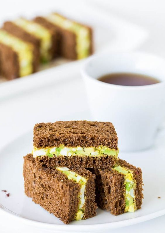 Try this Spicy Avocado Egg Salad Tea Sandwiches for your next tea party