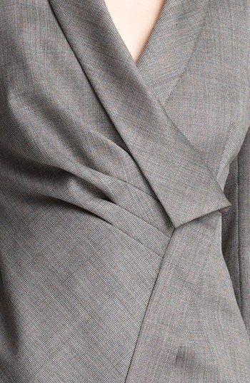 Armani Collezioni Asymmetrical Micro Herringbone Jacket | Nordstrom