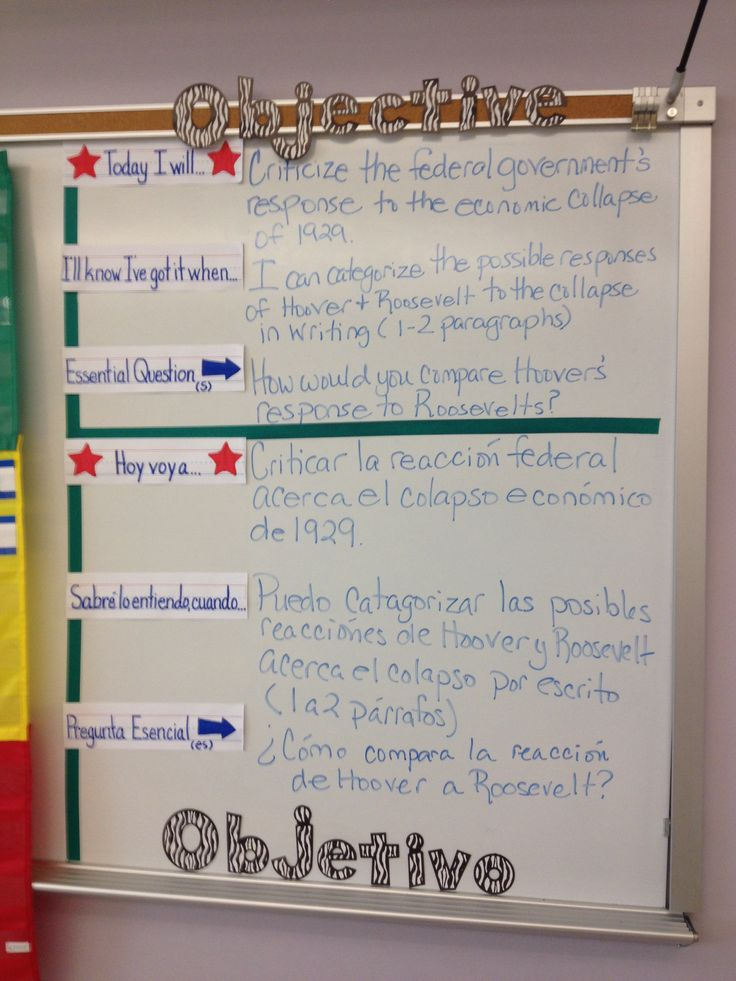 Student friendlythree part objectives for a bilingual