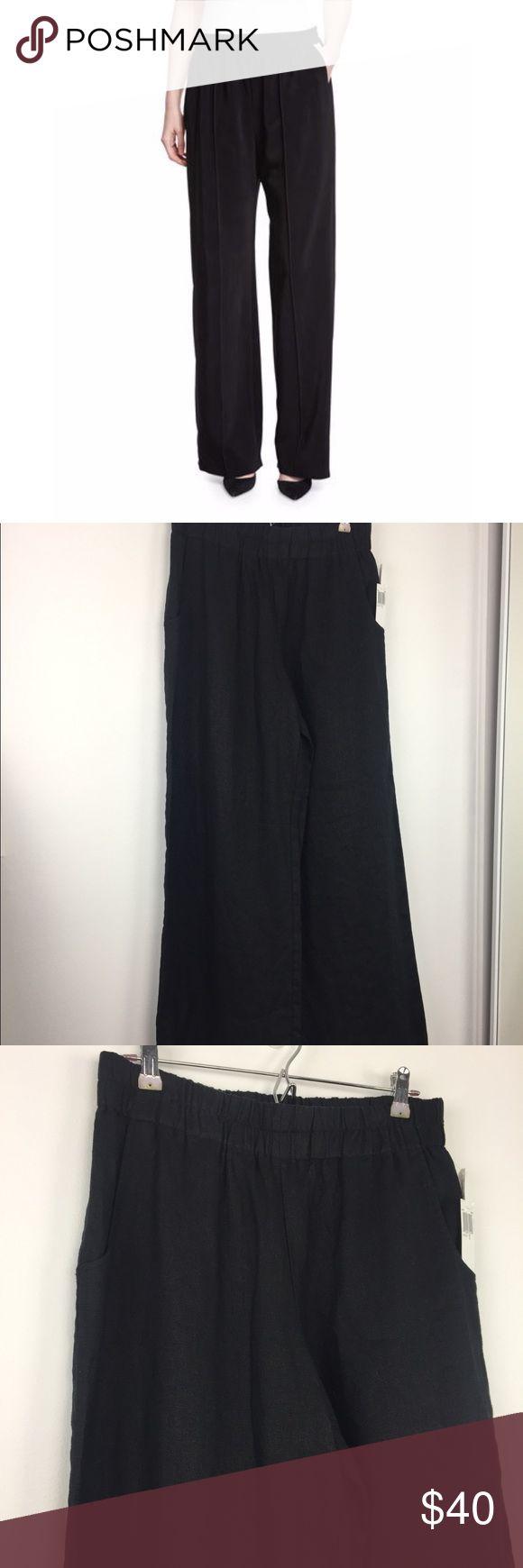 "Neiman Marcus Black Wide Leg Linen Pants Neiman Marcus Wide Leg Black Linen Pants.  NWT.  100% Linen.  Approx 29"" inseam.  E2 Neiman Marcus Pants Wide Leg"