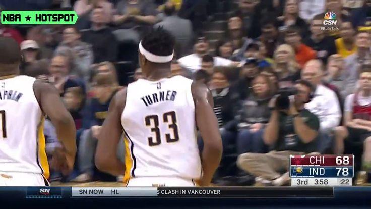 BULLS vs PACERS  Myles Turner Nice Slam Dunk   Dec 30   16 17 NBA Season