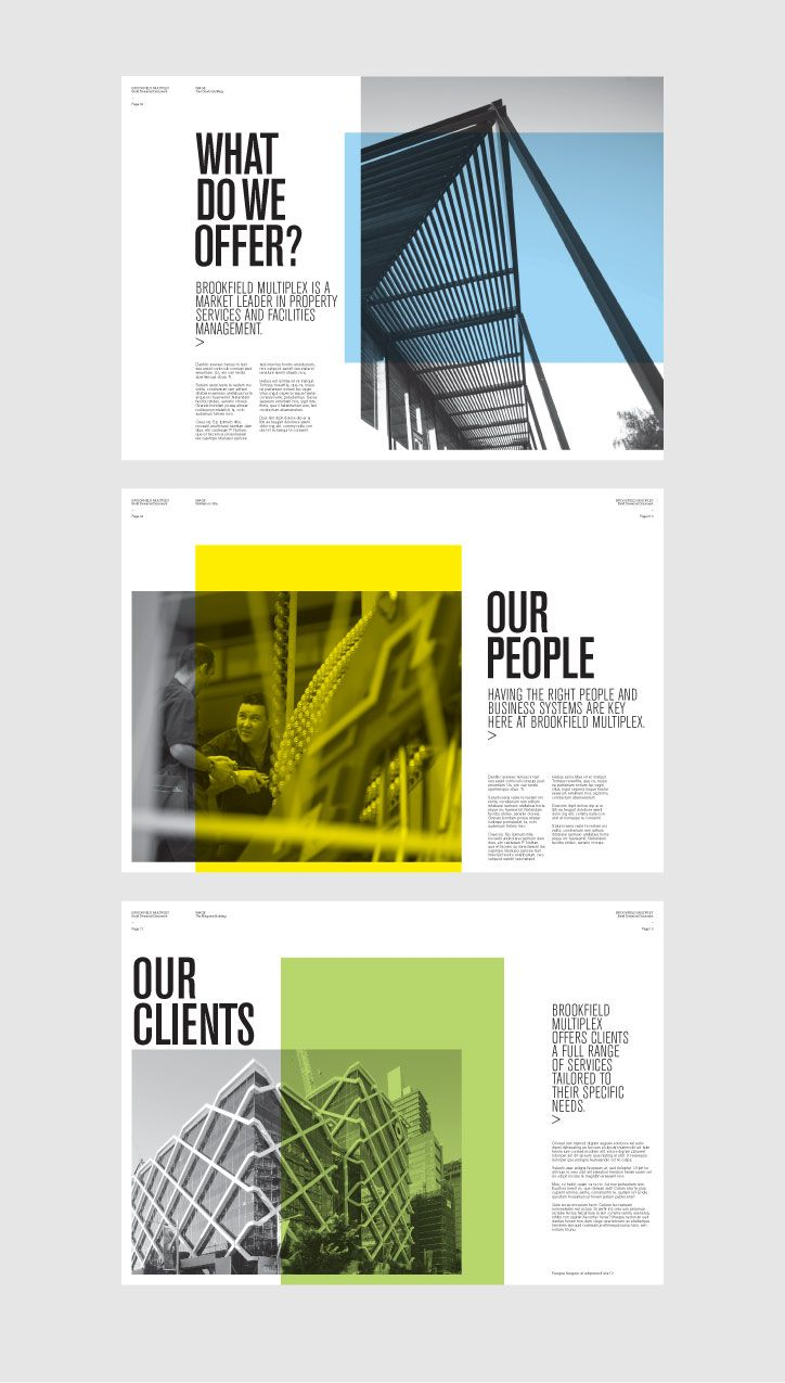 The challenge was to devise a concept that would appeal to a wide market and be a cost- effective, environmental friendly approach. The publications needed to work both as a unit and as individual booklets. As a result, the concept uses two colour printing for each publication, with vibrant colours and dynamic black and white photography.