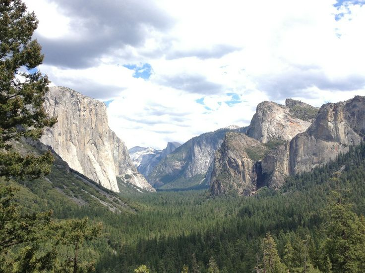Yosemite Falls, El Cap, Half Dome