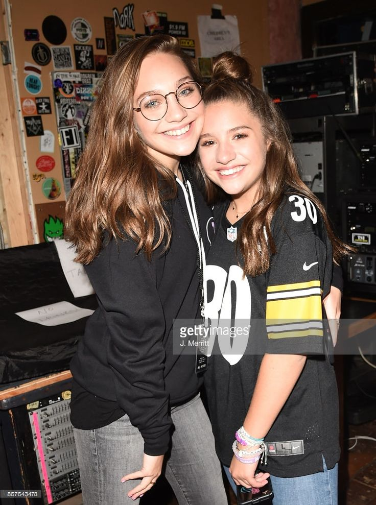Mackenzie Ziegler and Maddie Ziegler pose backstage after the 'Day & NIght' tour at Mr Smalls on October 28, 2017 in Millvale, Pennsylvania.
