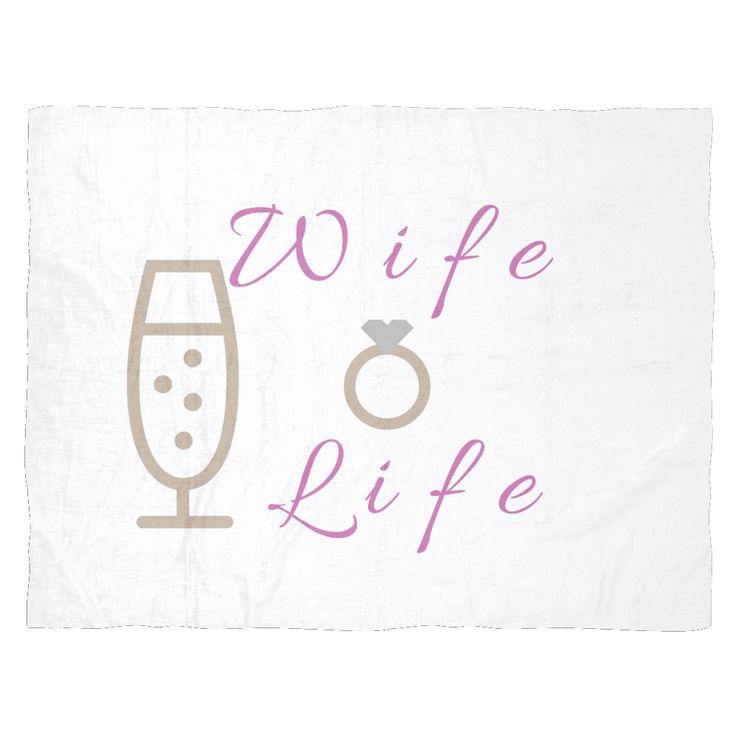 Wife Life Fleece Blankets