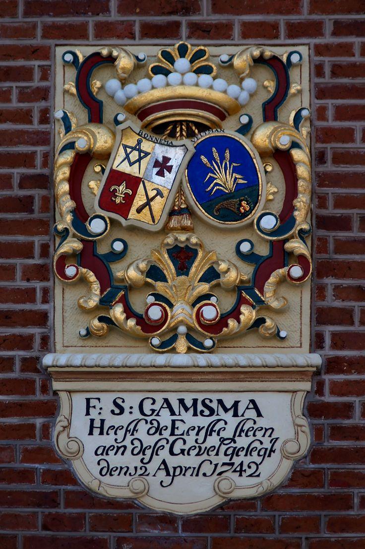 Coat of arms Camsma, Harlingen. Photo by Pancras van der Vlist.