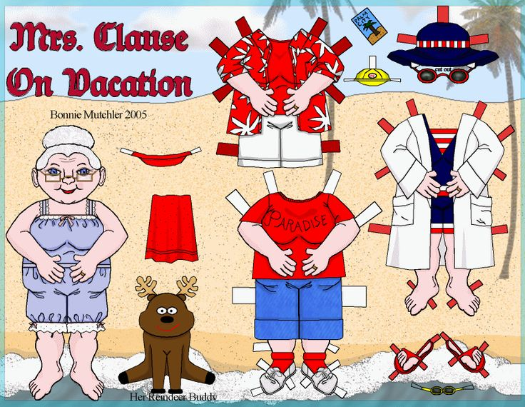 Ms Claus on vacation