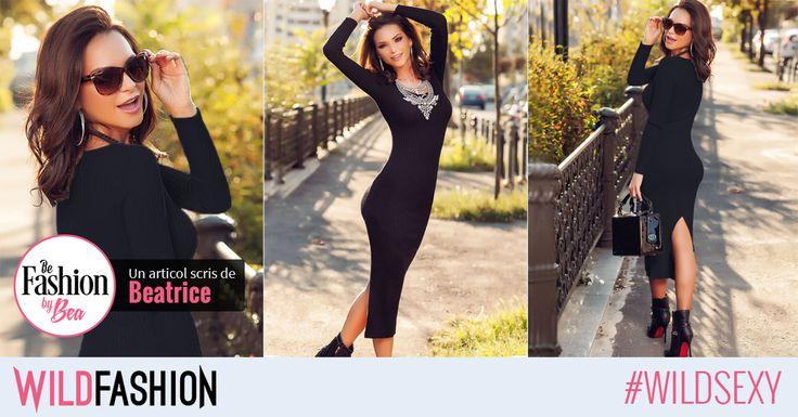 Poarta o rochie cu maneci lungi, peste genunchi! Accesorizeaz-o cu ghete si o geaca de piele pentru un look cool, smart casual.