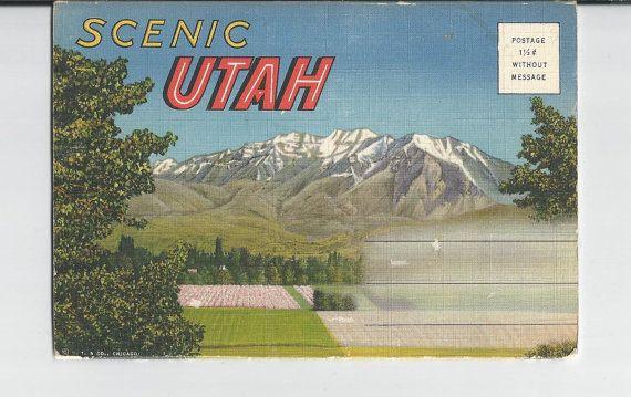 Vintage Scenic Utah Photo Folder by COLLECTORSCENTER on Etsy
