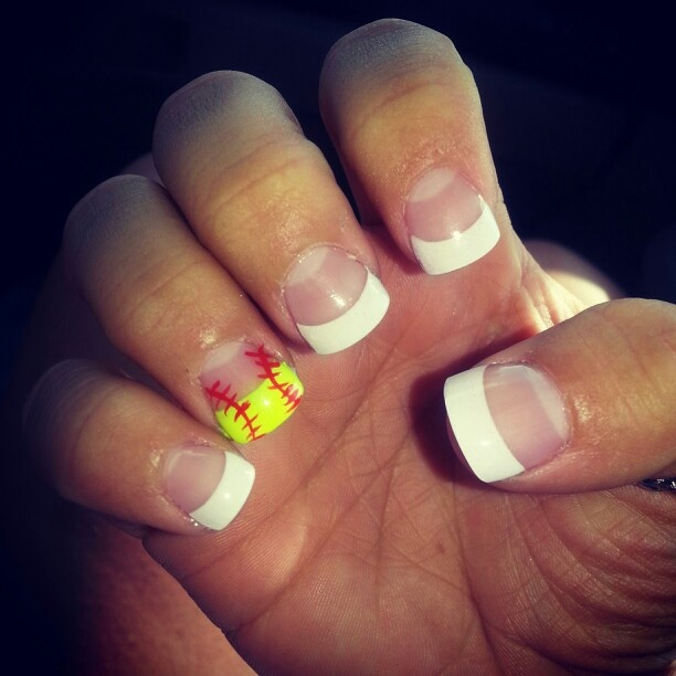 Softball Nails! ♥ - 25+ Best Softball Nails Ideas On Pinterest Baseball Nail Designs