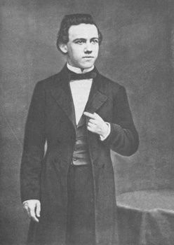 """Paul Charles Morphy (June 22, 1837 – July 10, 1884) American chess master.  Called """"The Pride and Sorrow of Chess"""" because he had a brief and brilliant chess career followed by mental illness. Photo 1859."""