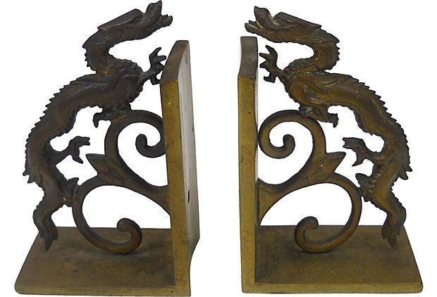 Brass Asian Bookends on OneKingsLane.com