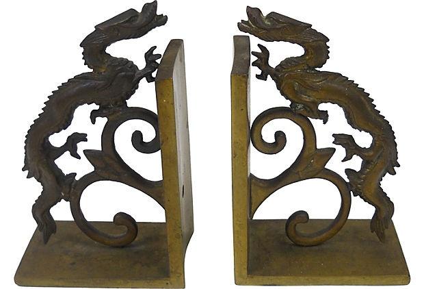 Brass Asian Bookends on OneKingsLane.com