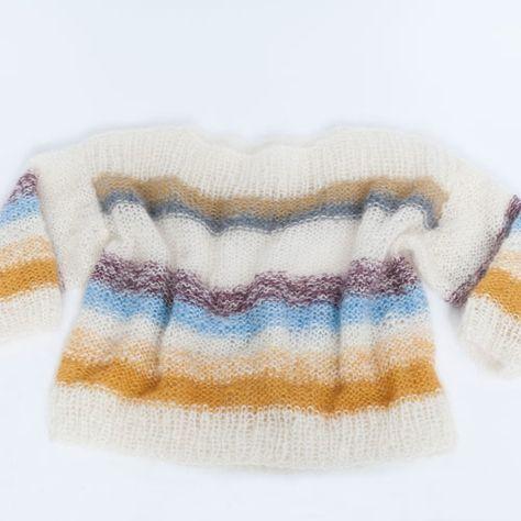 DEILIG STRIKK: Genseren er inspirert av en genser fra FreePeople. Foto: linelangmo.no