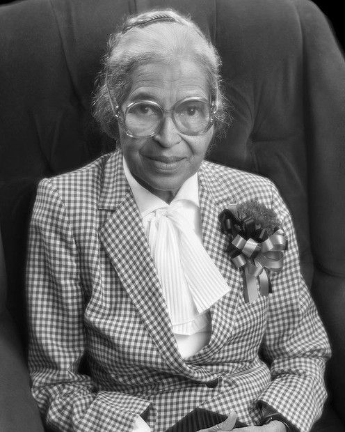 Rosa Parks...when standing up for your rights doesn't work, perhaps try sitting down! What an inspiration she was to the world.